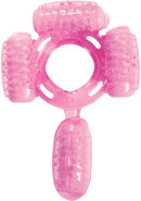 Humm Dinger Super Quad Vibrating Cock Ring Magenta