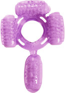 Humm Dinger Super Quad Vibrating Cock Ring Purple