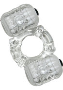 Hero Double Pleaser Teaser Cock Ring Waterproof Clear