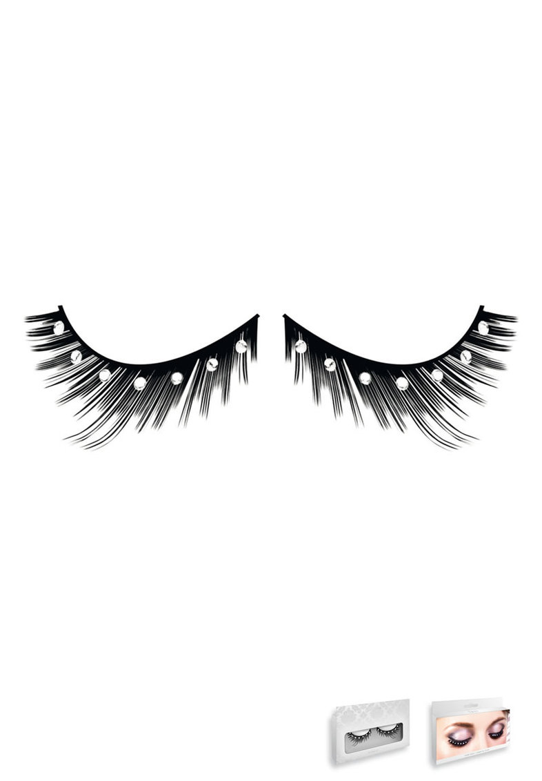 Black-white Rhinestone Eyelashes