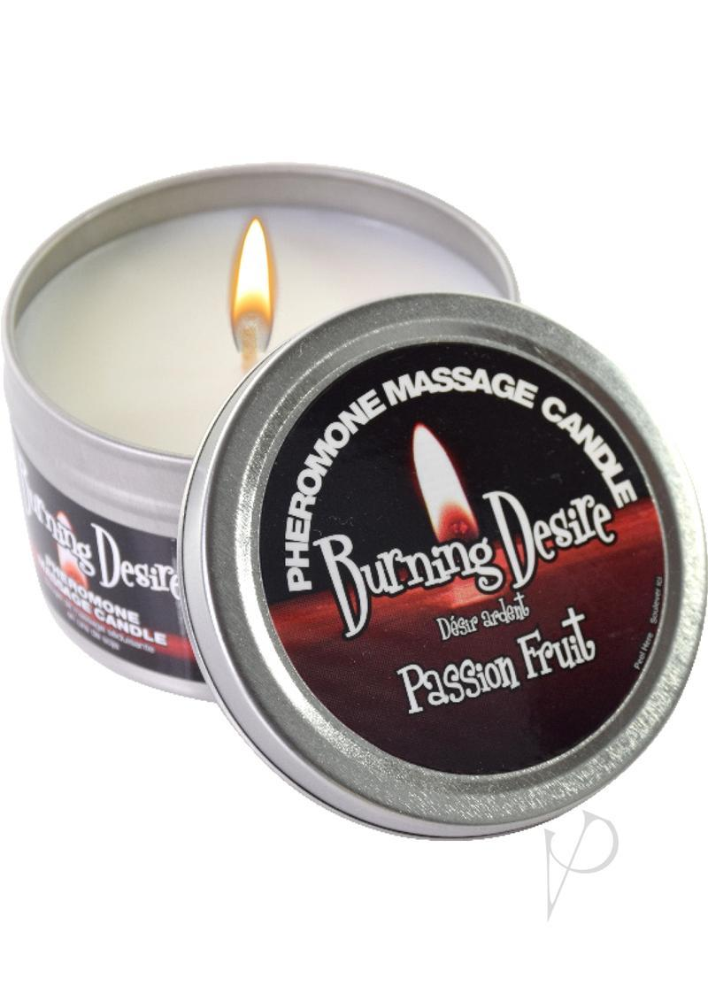 Burning Desire Candle With Pheromones Passion Fruit 4 Ounce